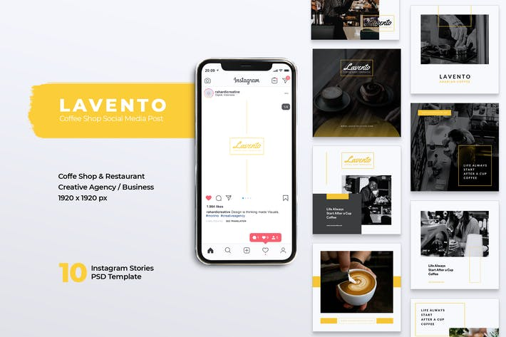 Thumbnail for LAVENTO Coffee Shop Instagram & Facebook Post