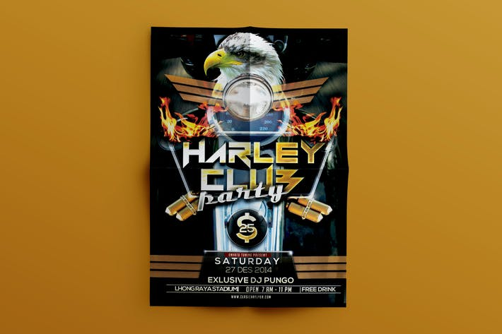 Cover Image For Harley Motorcycle Flyer Template