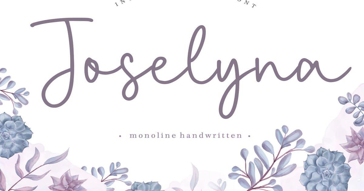 Download Joselyna YH - Monoline Signature Font by GranzCreative
