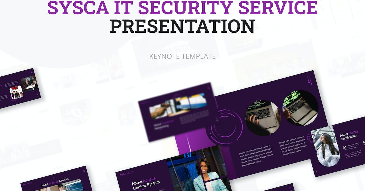 Download Sysca IT Security Service Keynote Presentation Tem by elmous