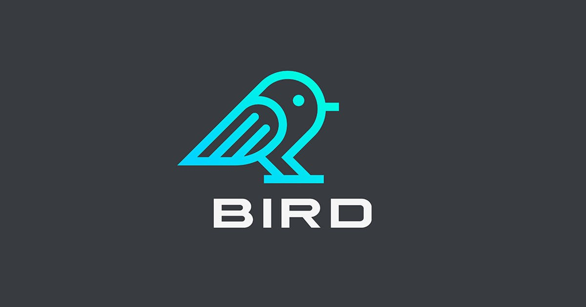 Download Bird Sparrow Logo abstract Linear style by Sentavio