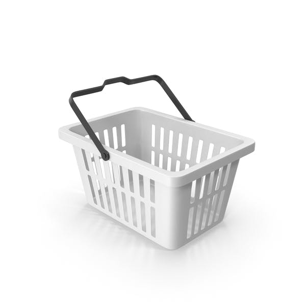 Plastic Shopping Basket White