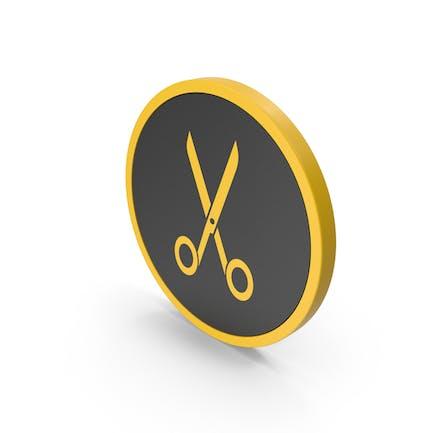 Icon Scissors Yellow