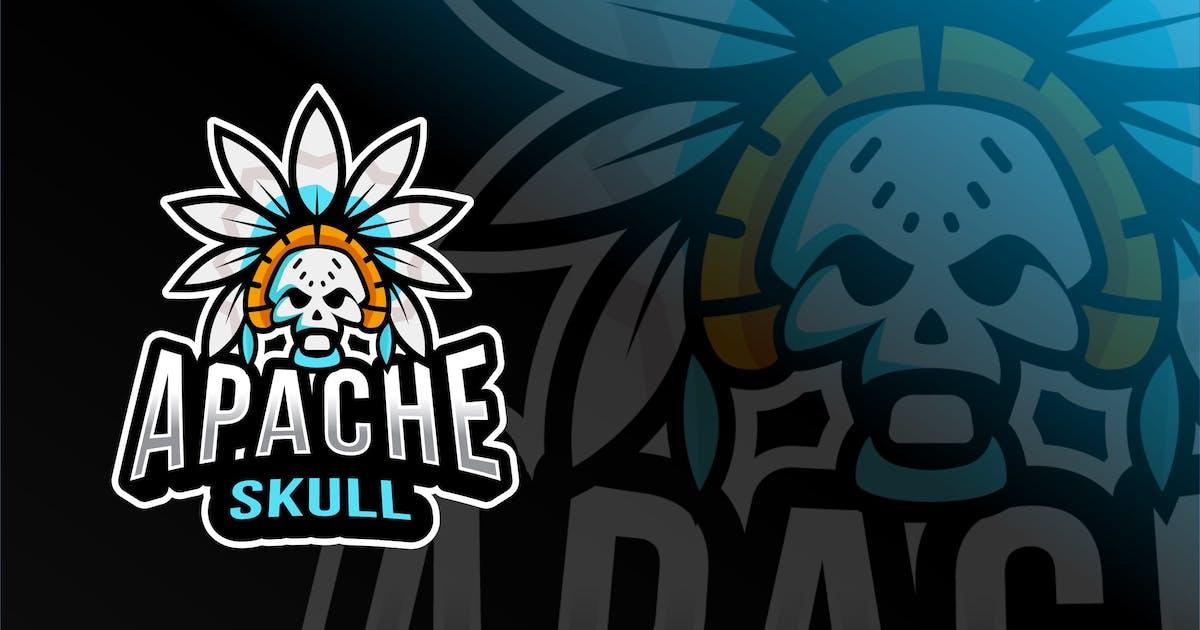 Download Apache Skull Esport Logo Template by IanMikraz