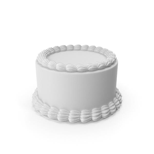 White Round Cake