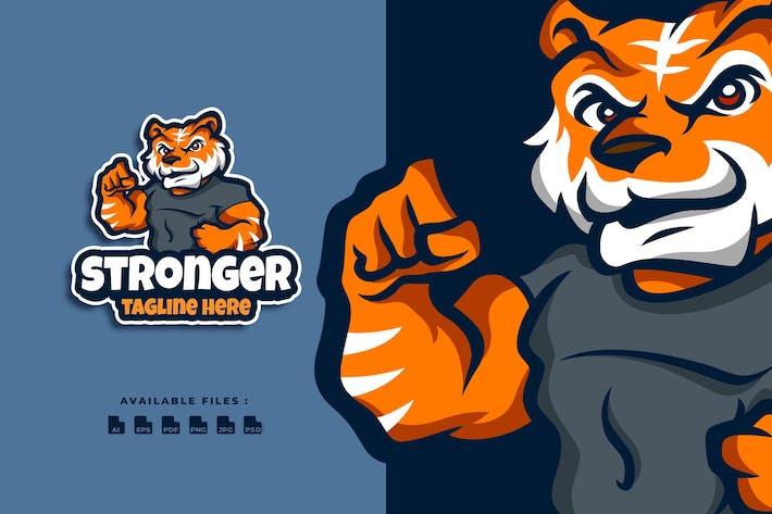 Thumbnail for Tiger Stronger Cartoon Logo