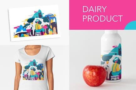 Milchkuh und Landwirt
