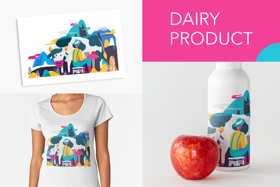 Молочная корова и фермер