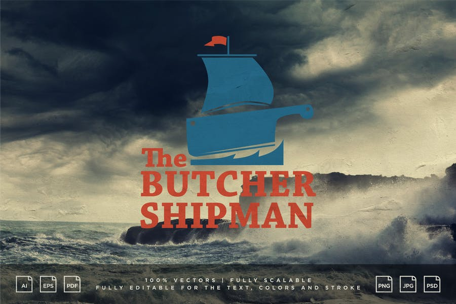 Logo Design - The Butcher Shipman