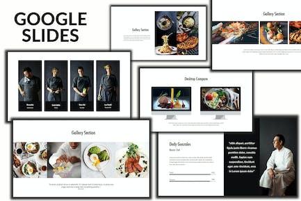 Core - Еда и напитки Творческие Google Слайды