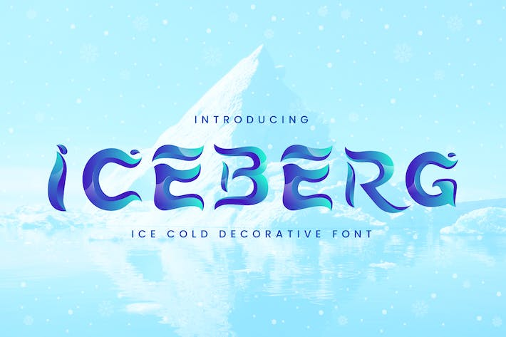 Thumbnail for Iceberg - Cold Unique Display Typeface