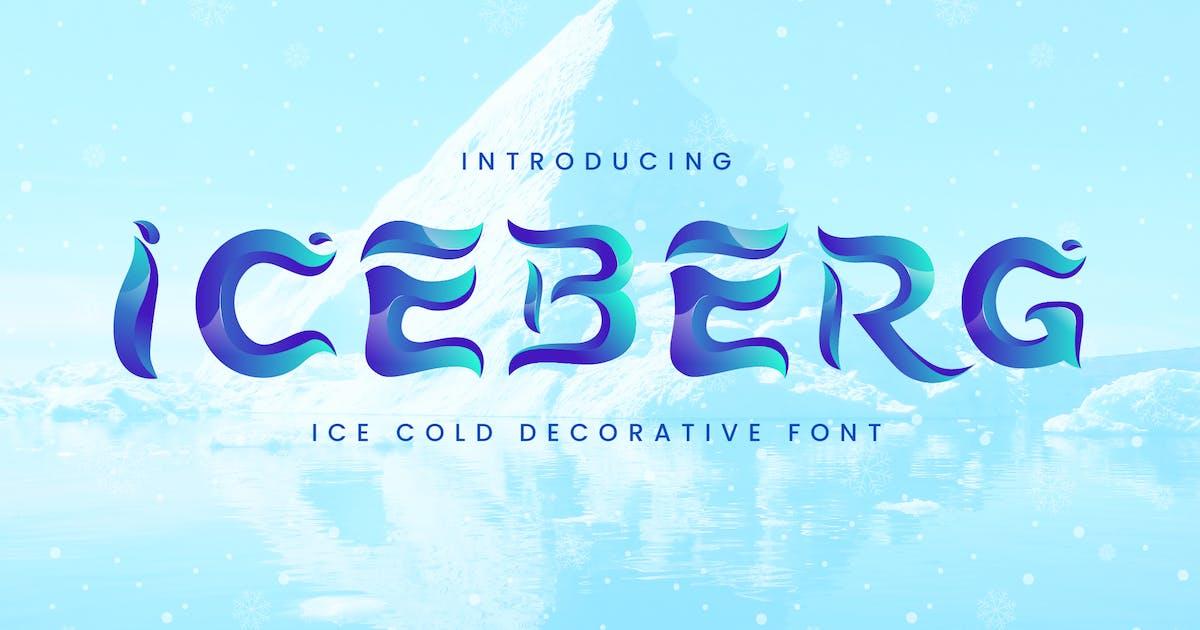 Download Iceberg - Cold Unique Display Typeface by naulicrea