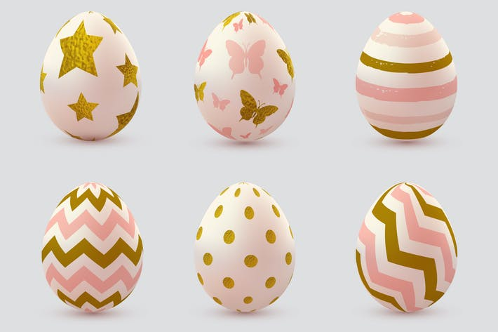 Thumbnail for Set of Pink Decorative Easter Eggs
