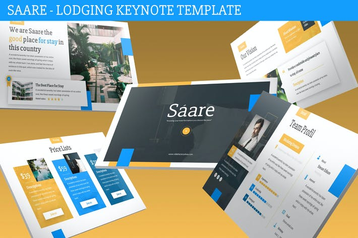 Thumbnail for Saare - Lodging Keynote Template