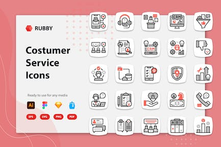 Rubby - Costumer Service Icons