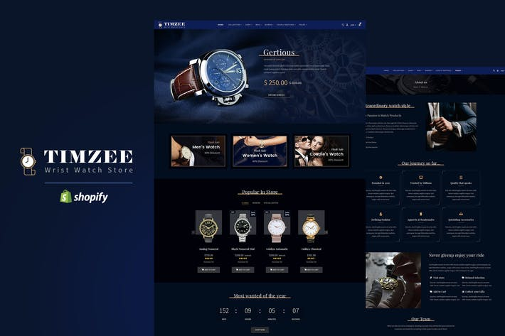 Thumbnail for Timzee | Shopify Watch Store & Digital Clock Theme