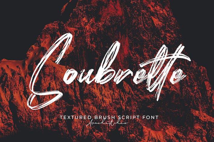 Soubrette - шрифт текстурированной кисти