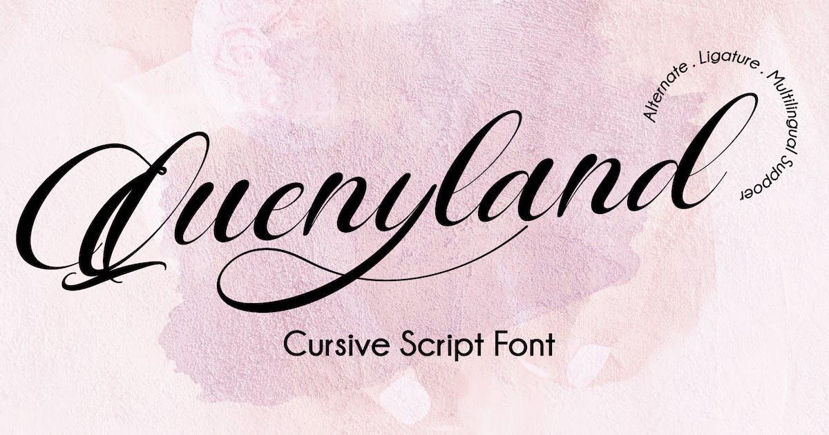 Download Quenyland - Cursive Script Font by IanMikraz