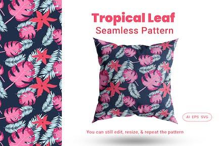 Seamless Pattern Tropical Leaf