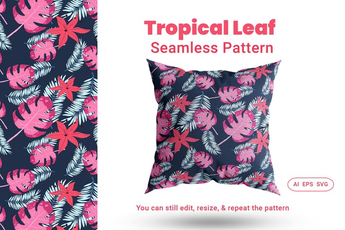 Thumbnail for Seamless Pattern Tropical Leaf