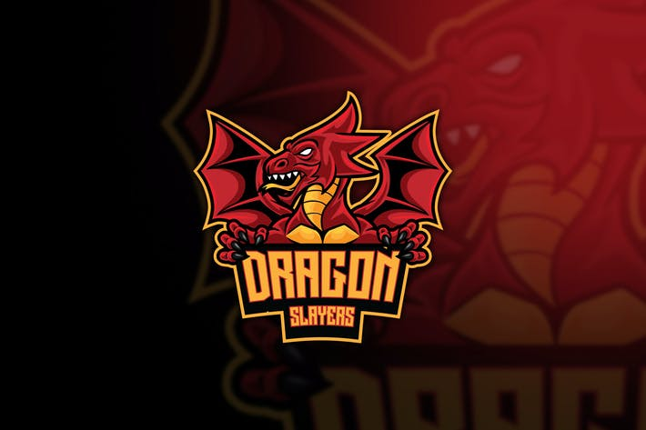 Thumbnail for Dragon Slayer Esport Logo Template