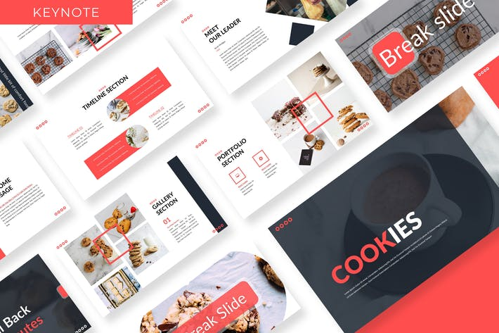 Cover Image For Cookies  - Business Keynote Template
