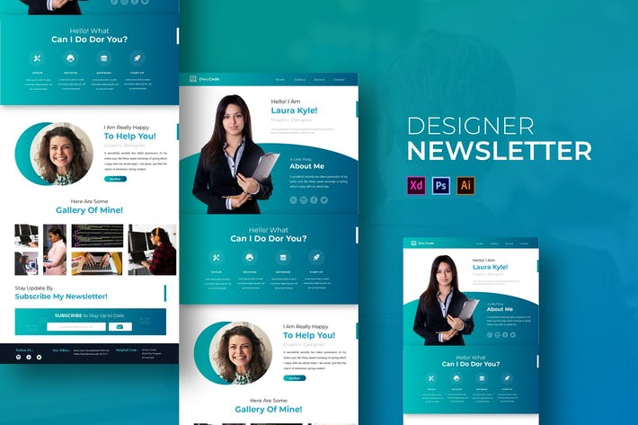 Thumbnail for Designer | Newsletter Template