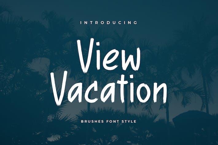 Thumbnail for Ver fuente del pincel de vacaciones