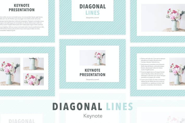 Thumbnail for Diagonal Lines Keynote Template