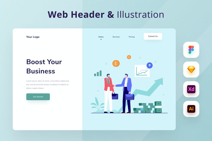 Thumbnail for Business Web Header