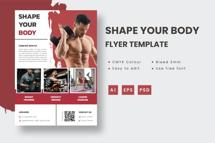 Thumbnail for Shape Your Body - Flyer Template