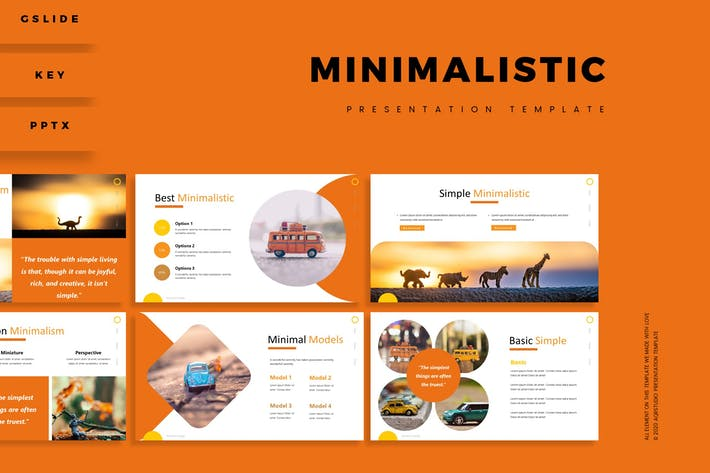 Thumbnail for Минималистичный - Шаблон презентации