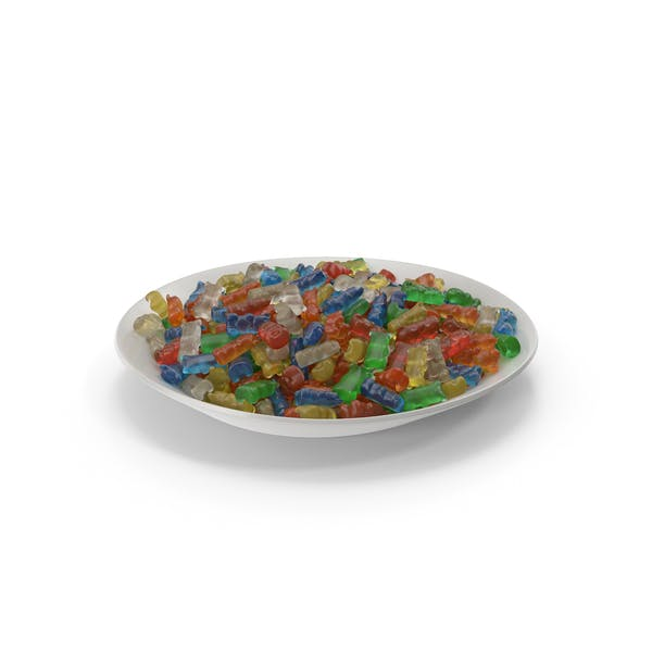 Plate with Gummy Bears