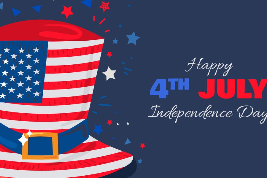 USA Unabhängigkeitstag Illustration mit Hut