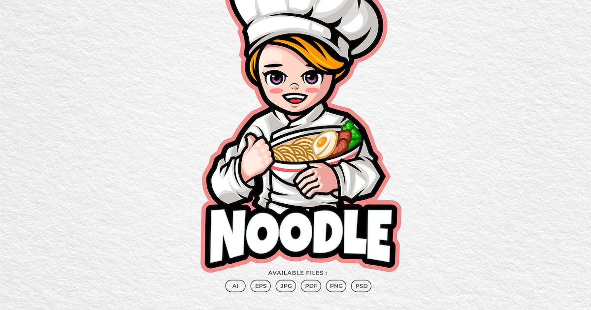 Download Noodle Chef Mascot Logo by yogaperdana7