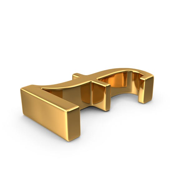 Gold Pounds Symbol