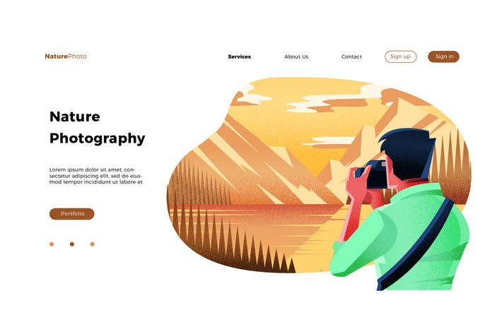 Thumbnail for Nature Photography - Banner & Landing Page