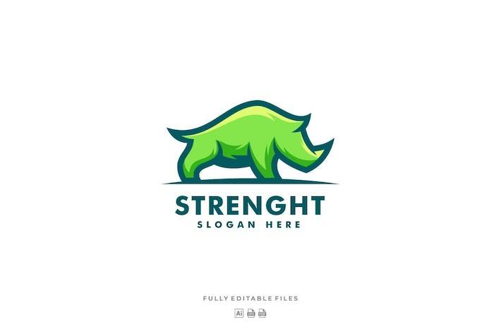 Rhino Simple Mascot Logo