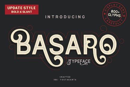 Basaro - Decorative Font