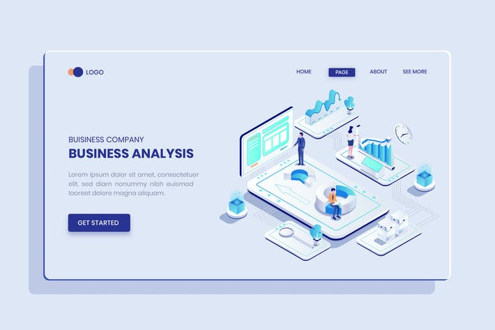 Thumbnail for Geschäftsanalyse Isometrisches Konzept