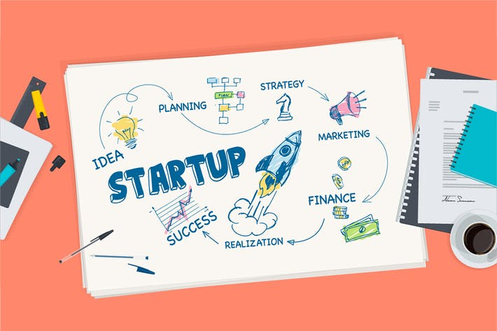Thumbnail for Flat Design Concept for Startup