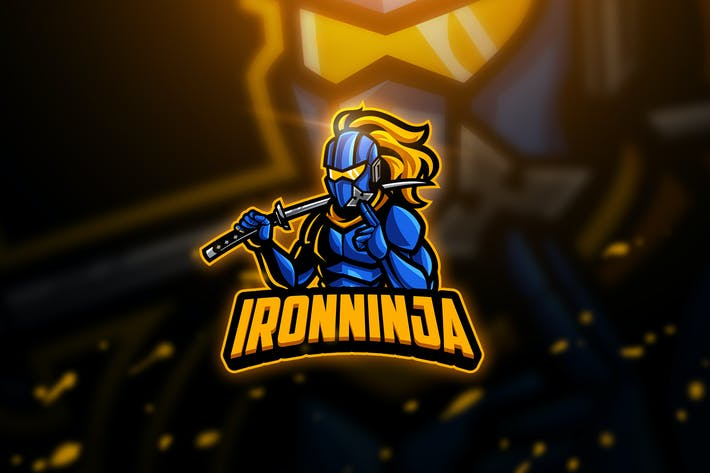 Thumbnail for Iron Ninja - Mascot & Esport Logo