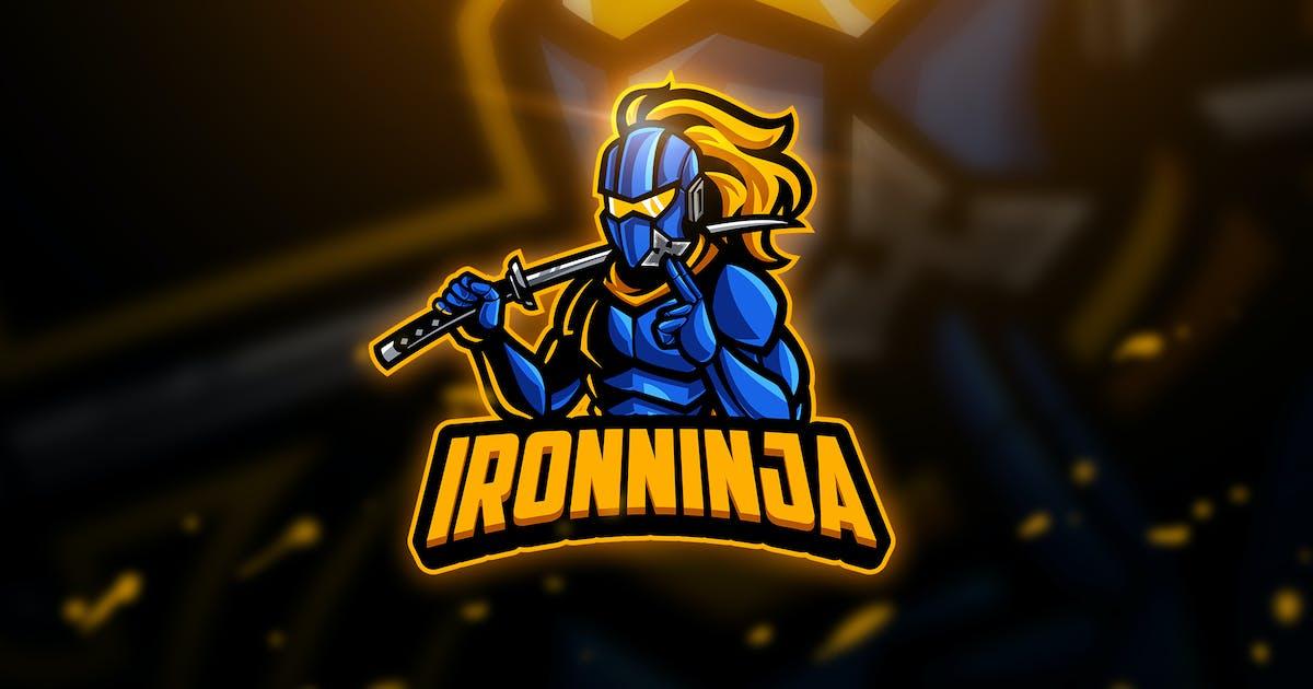 Download Iron Ninja - Mascot & Esport Logo by aqrstudio