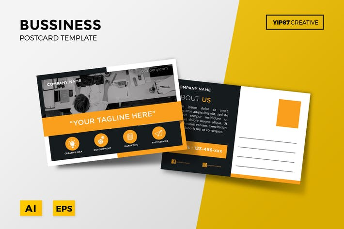 Business postcard by yip87 on envato elements thumbnail for business postcard cheaphphosting Image collections