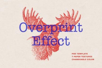 Overprint Photoshop Effect