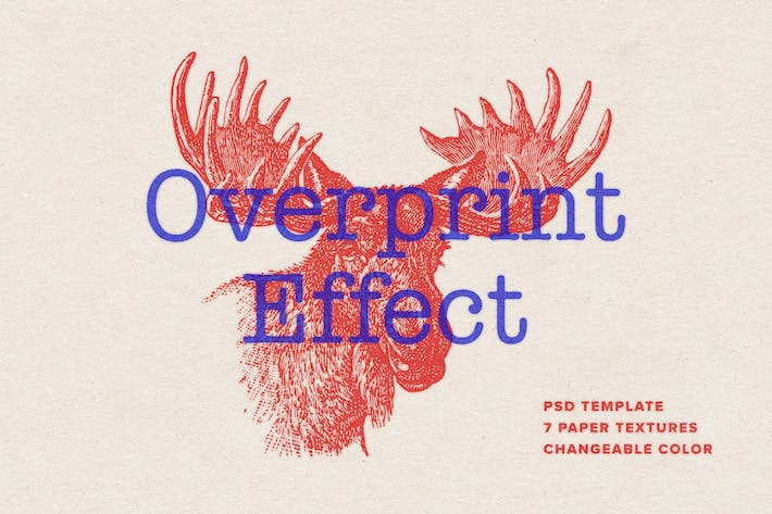 Thumbnail for Overprint Photoshop Effect