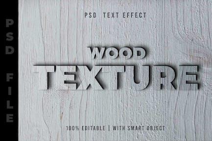 White Wood Text Editable
