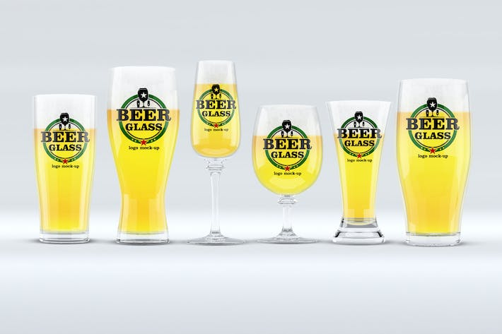 Thumbnail for Beer Glasses Mock-Up