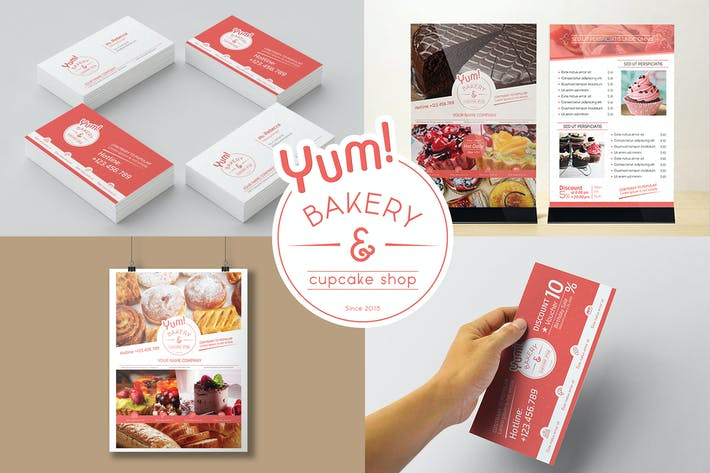 Cover Image For Bakery & Cupcake Shop - Set Template