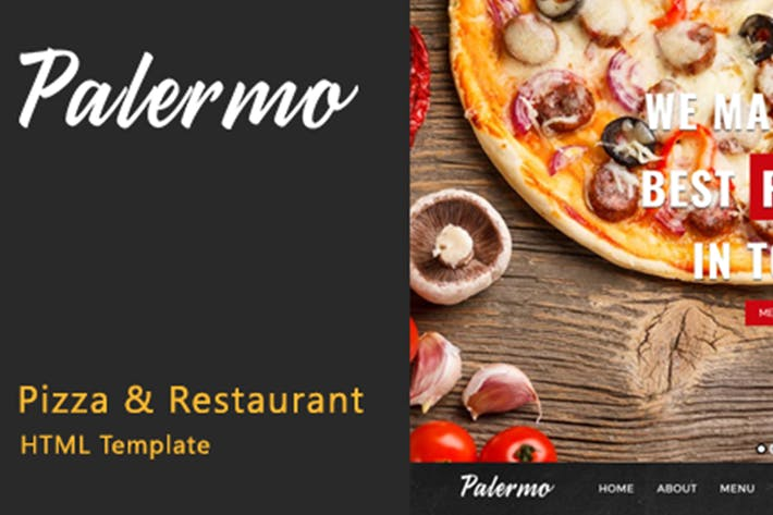 Thumbnail for Palermo - Plantilla HTML para pizza y Restaurante